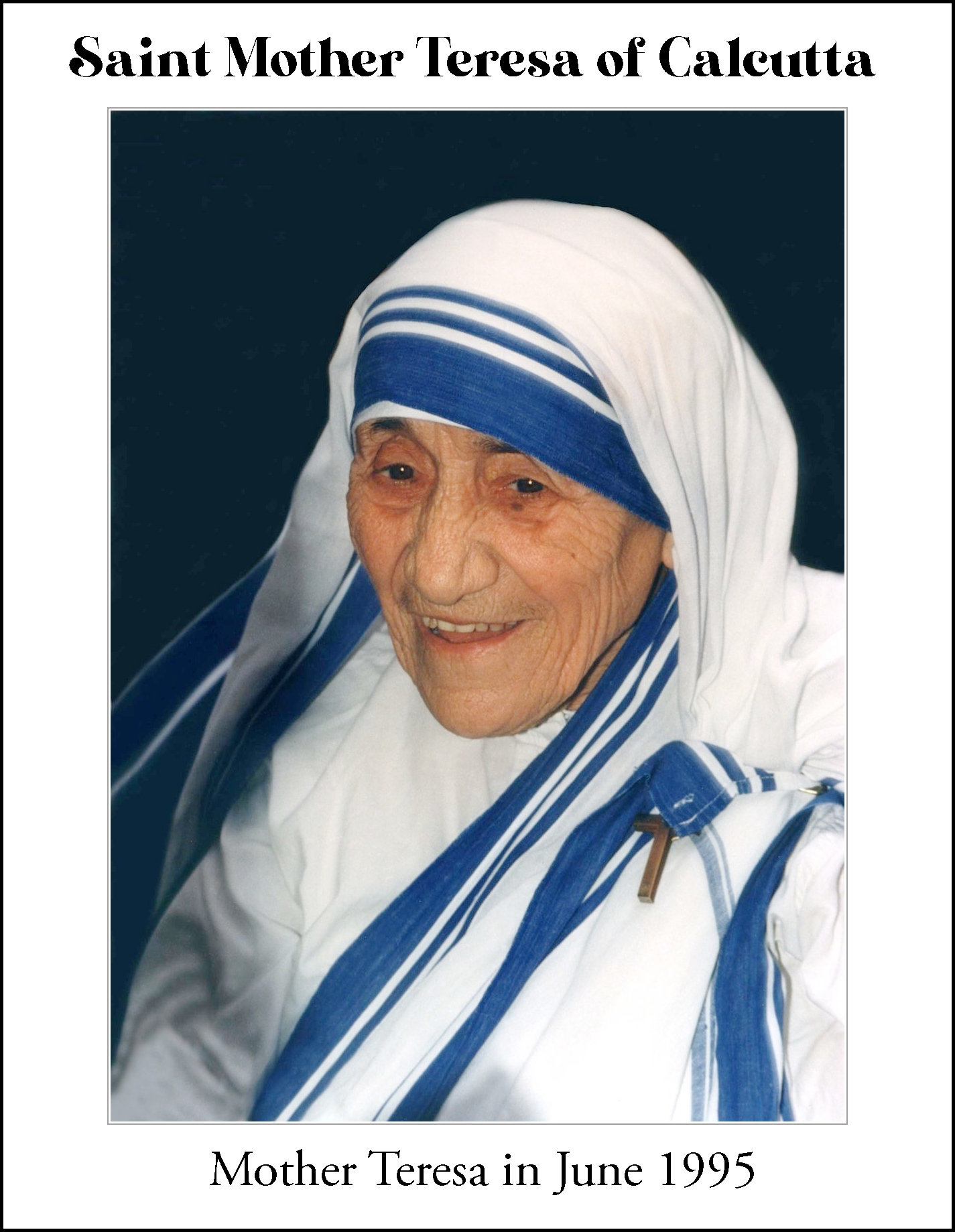 Saint Teresa of Calcutta Handmade Necklace Catholic